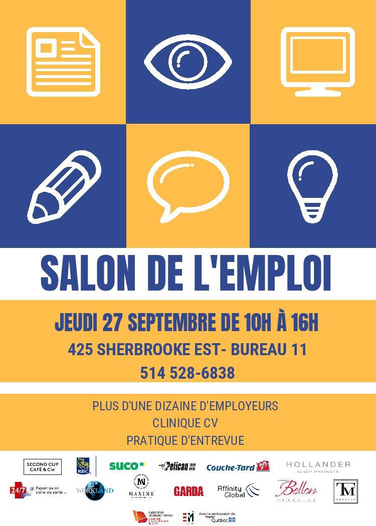 55c92bb8e97 Invitation au Salon de l emploi le 27 septembre prochain – Agora ...